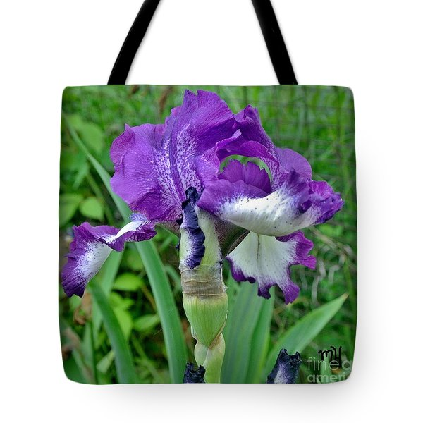 Tote Bag featuring the photograph Spring Purple Iris by Marsha Heiken