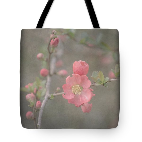 Spring Quince Tote Bag by Angie Vogel