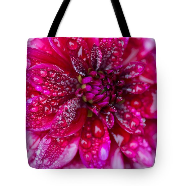Spring - Rain And Flower Tote Bag by Patrick Downey