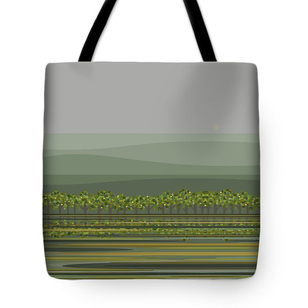 Spring Rain Reflections Tote Bag