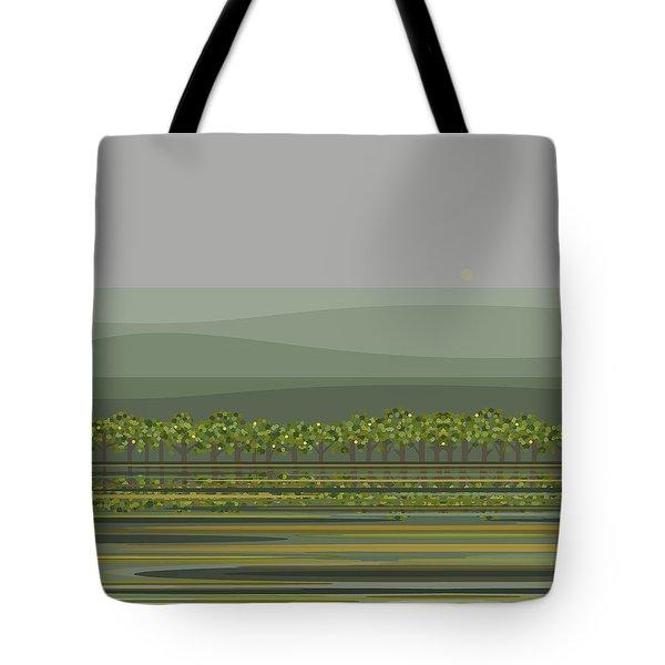 Spring Rain Reflections Tote Bag