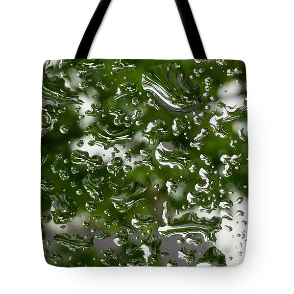 Spring Raindrops  On The Windowpane Tote Bag