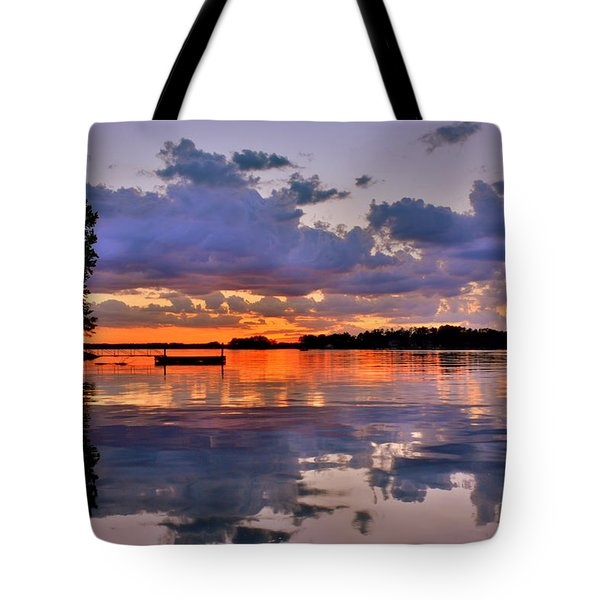 Tote Bag featuring the photograph Spring Reflections by Lisa Wooten