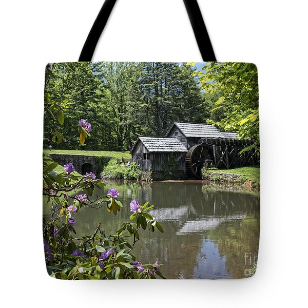 Spring Reflections Of An Ancient Mill Tote Bag
