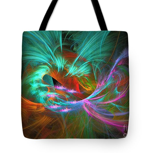 Spring Riot - Abstract Art Tote Bag