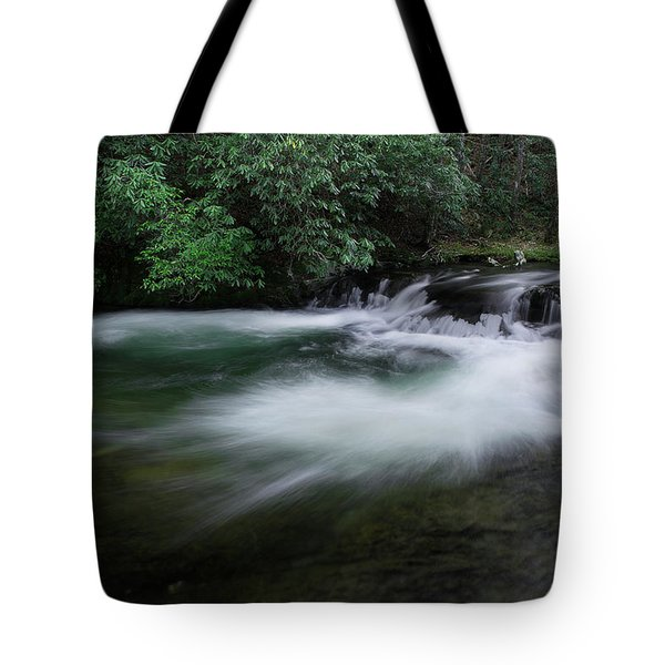 Tote Bag featuring the photograph Spring River by Mike Eingle