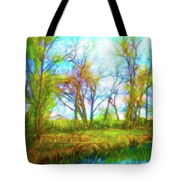 Spring River Rambling Tote Bag
