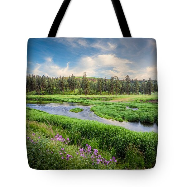 Tote Bag featuring the photograph Spring River Valley by Rikk Flohr