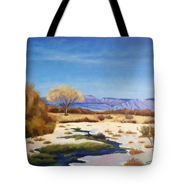 Spring Runoff Tote Bag by Sherril Porter