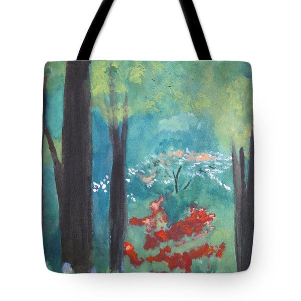 Tote Bag featuring the painting Spring by Sandy McIntire