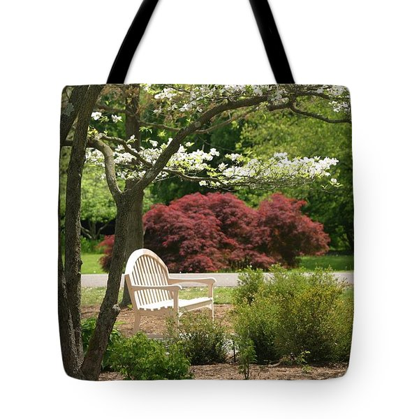 Spring Seating Tote Bag by Living Color Photography Lorraine Lynch