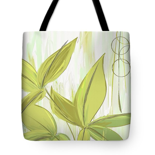 Spring Shades - Muted Green Art Tote Bag by Lourry Legarde