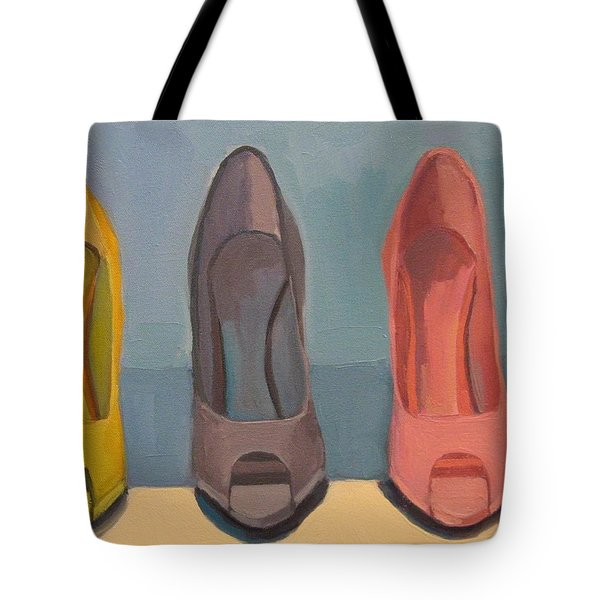 Tote Bag featuring the painting Spring Shoes by Jennifer Boswell