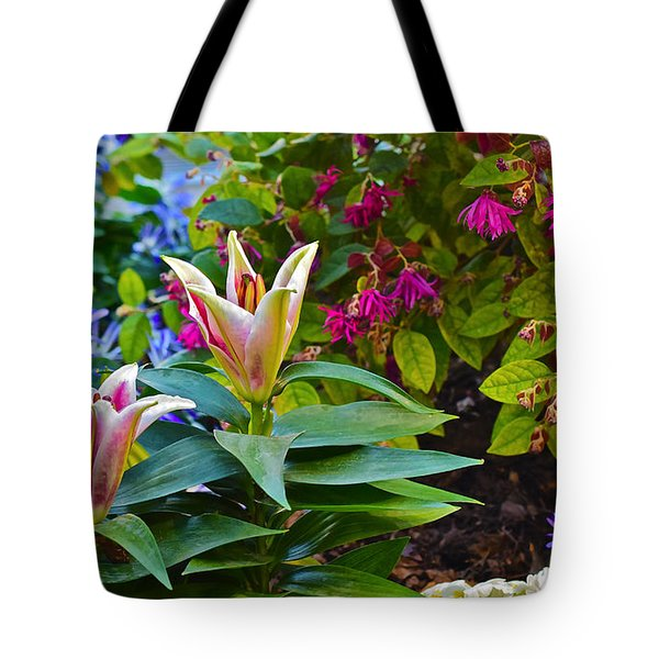 Spring Show 15 Lilies Tote Bag