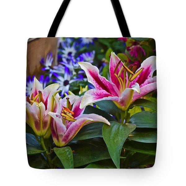 Spring Show 15 Lily Trio Tote Bag