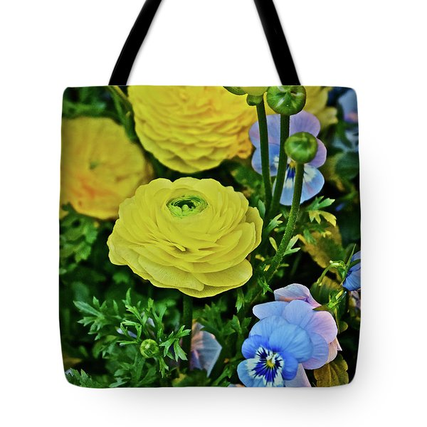 Spring Show 18 Persian Buttercup With Horned Viola Tote Bag