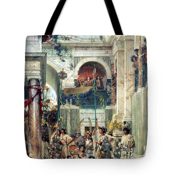 Spring Tote Bag by Sir Lawrence Alma-Tadema