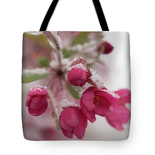 Tote Bag featuring the photograph Spring Snow by Ana V Ramirez