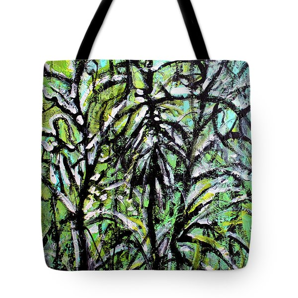 Tote Bag featuring the painting Spring Snow by Priti Lathia