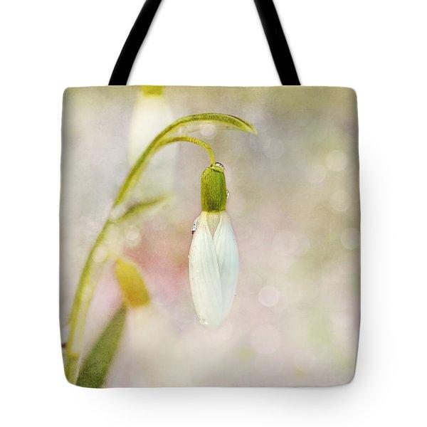 Spring Snowdrops And Bokeh Tote Bag