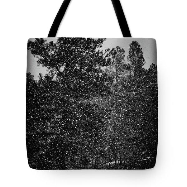Spring Snowstorm Tote Bag