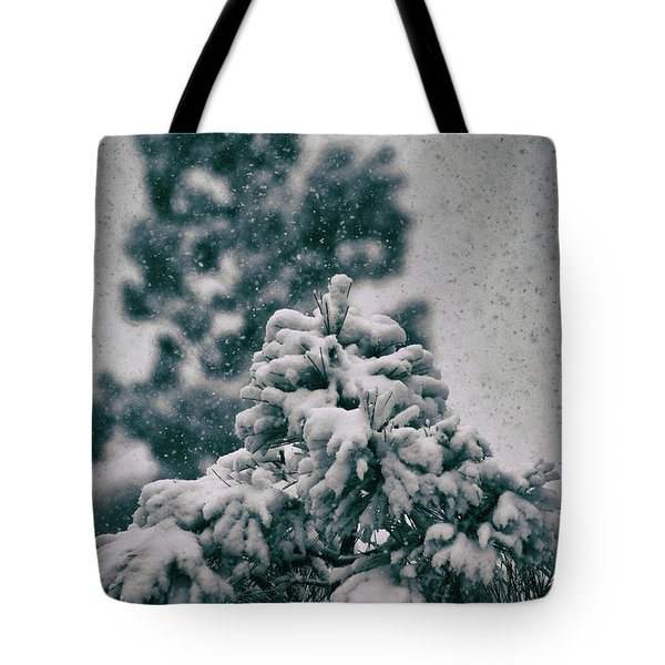 Spring Snowstorm On The Treetops Tote Bag