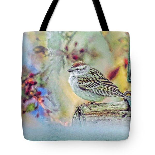 Spring Sparrow Tote Bag