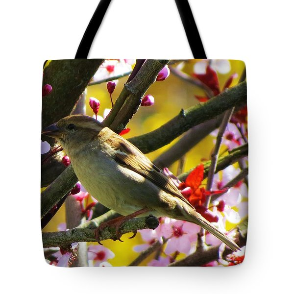 Spring Sparrow Tote Bag