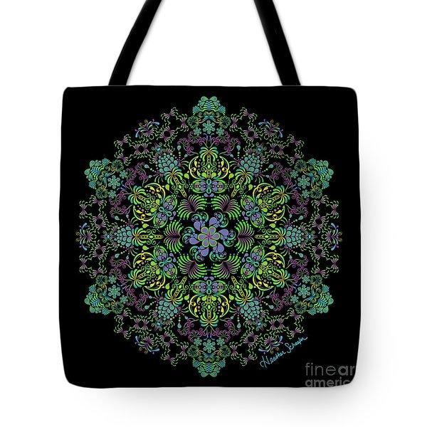Spring Spiral Tote Bag
