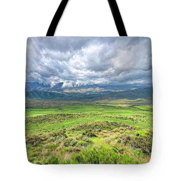 Spring Storm Moving Over The Bradshaw Tote Bag by Charles Ables
