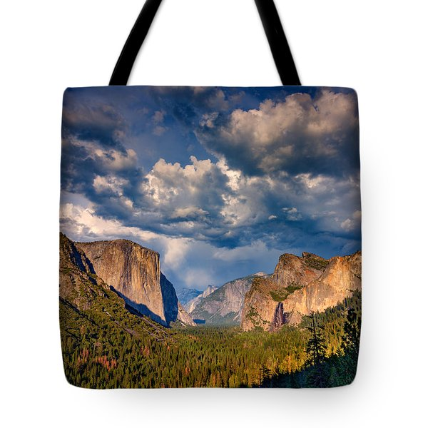 Spring Storm Over Yosemite Tote Bag