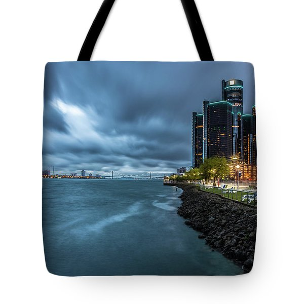 Storm Season In Detroit  Tote Bag