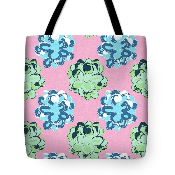 Spring Succulents- Art By Linda Woods Tote Bag by Linda Woods