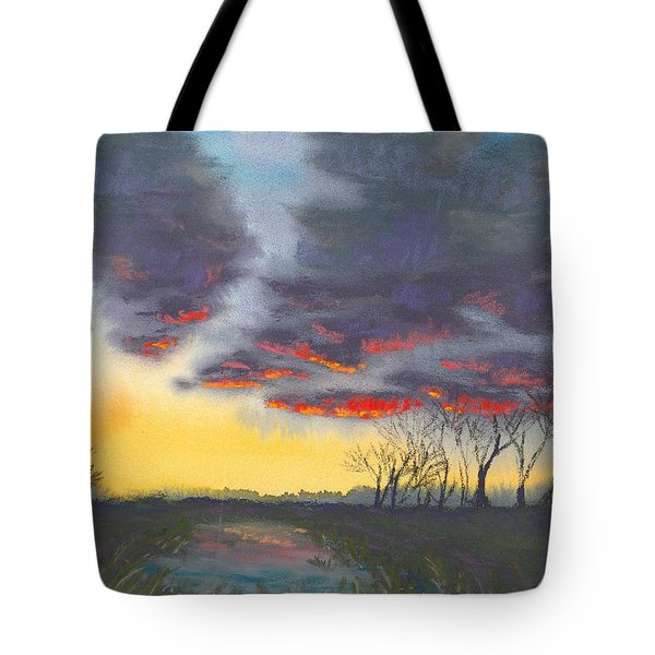 Spring Sunset Tote Bag by Christine Camp