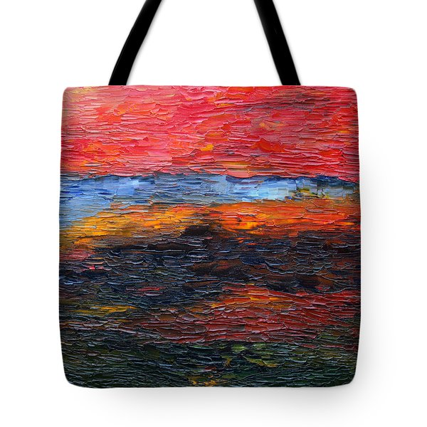 Spring Sunset Tote Bag by Vadim Levin