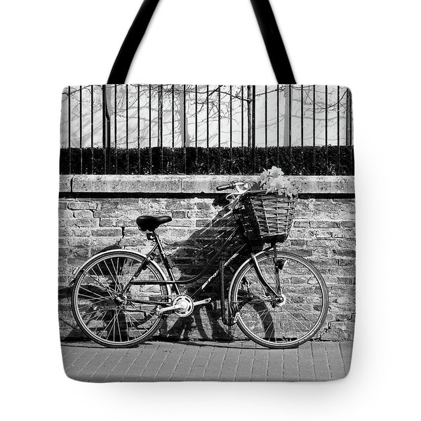 Tote Bag featuring the photograph Spring Sunshine And Shadows In Black And White by Gill Billington