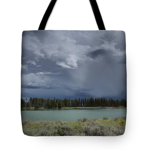 Spring Thunderstorm At Yellowstone Tote Bag