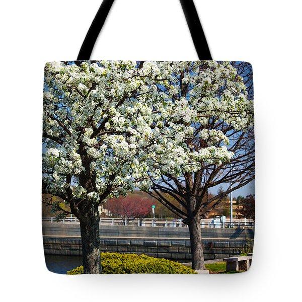 Spring Time In Westport Tote Bag