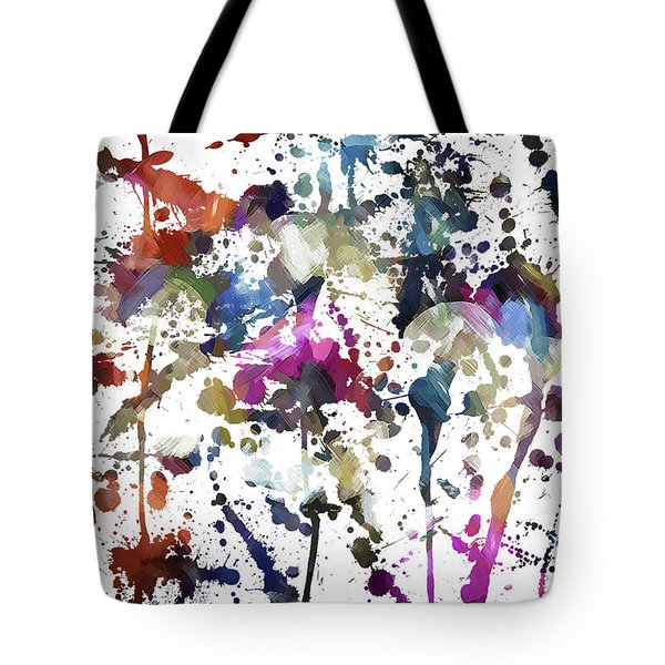 Tote Bag featuring the digital art Spring Time Splat by Margie Chapman