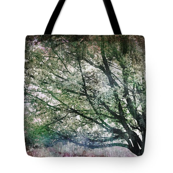 Tote Bag featuring the painting Spring Tree by Gray  Artus