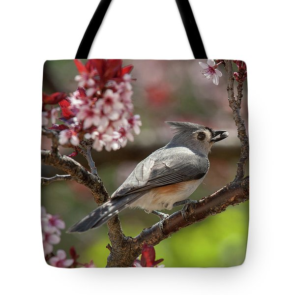 Spring Tufted Titmouse 2018 2 Tote Bag