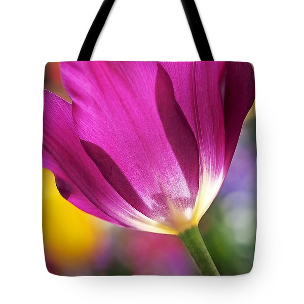 Tote Bag featuring the photograph Spring Tulip by Rona Black