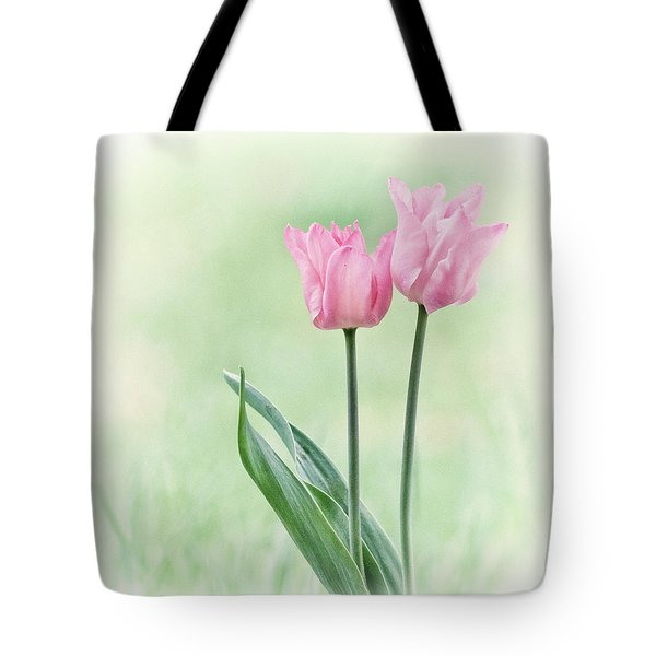 Tote Bag featuring the photograph Spring Tulips by Angie Vogel