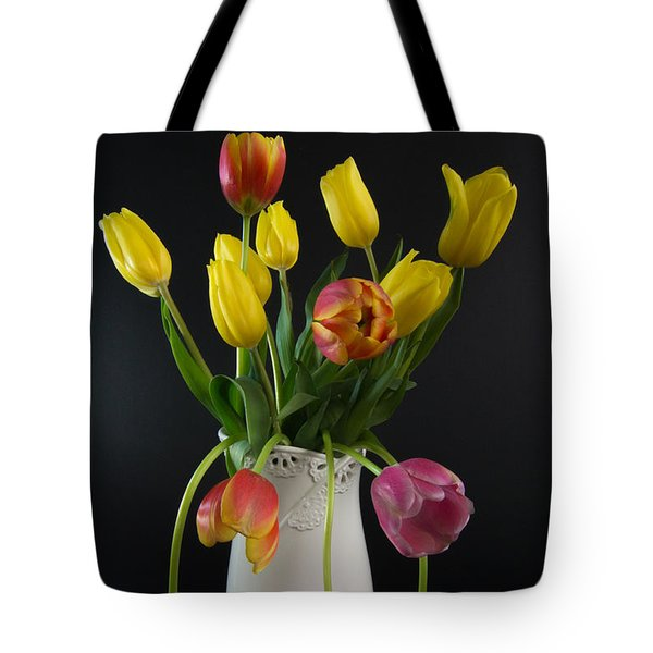 Spring Tulips In Vase Tote Bag by Patti Deters