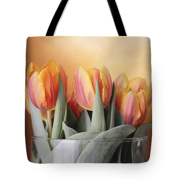 Spring Tulips Tote Bag by Kathleen Holley