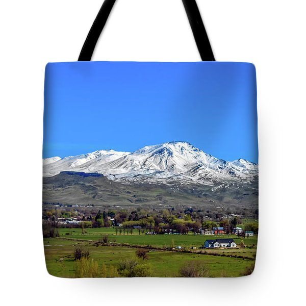 Tote Bag featuring the photograph Spring View Of Squaw Butte by Robert Bales