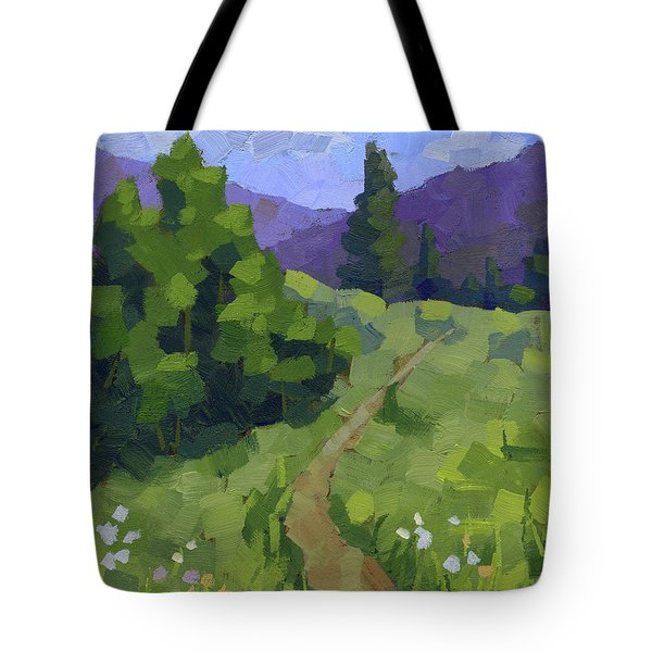 Spring Walk In The Mountains Tote Bag
