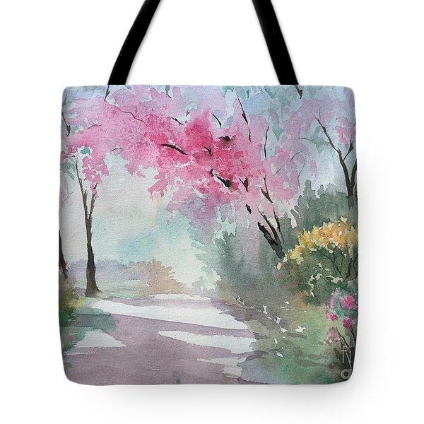 Spring Walk Tote Bag by Yohana Knobloch