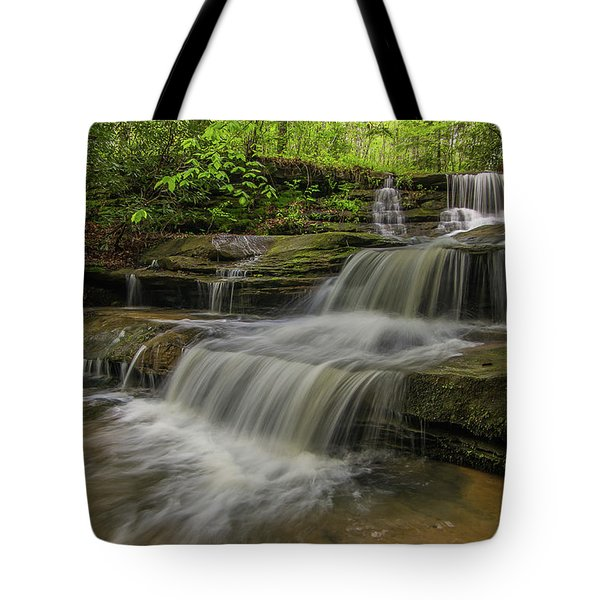 Spring Waterfall. Tote Bag by Ulrich Burkhalter