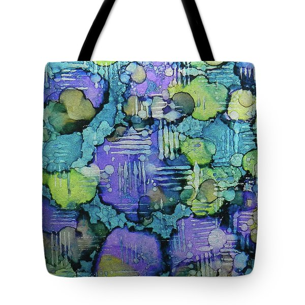 Tote Bag featuring the painting Spring Weave Ink #4 by Sarajane Helm